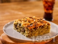 Рецепта Вкусна печена агнешка дроб сарма с дреболии (комплект) и ориз на фурна